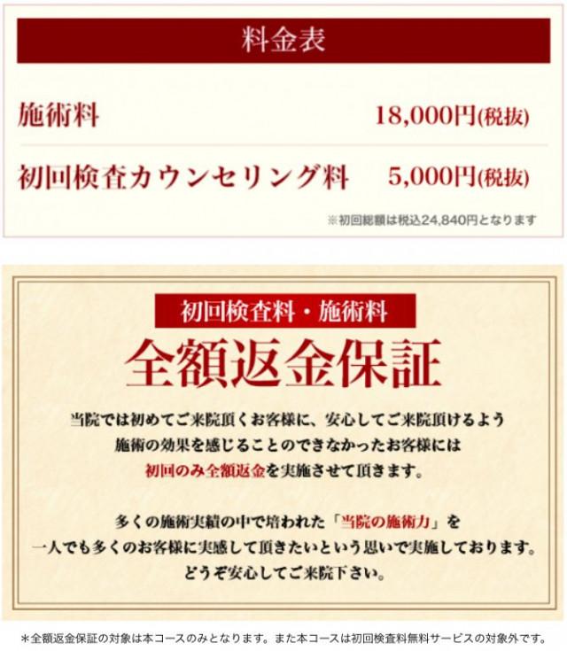 プレミアム美容矯正 初回総額 税込24840円